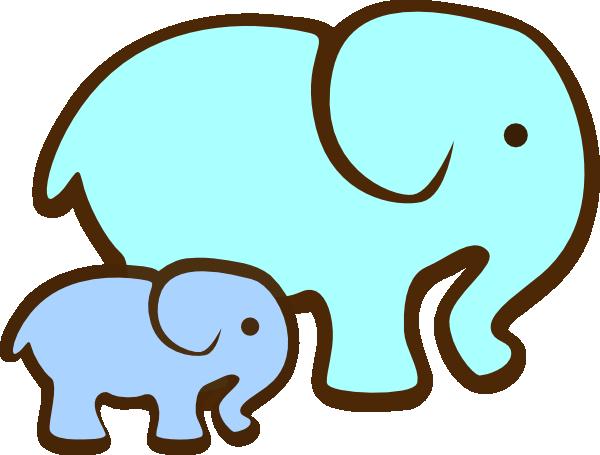 Blue Elephant Mom & Baby Clip Art at Clker.com.