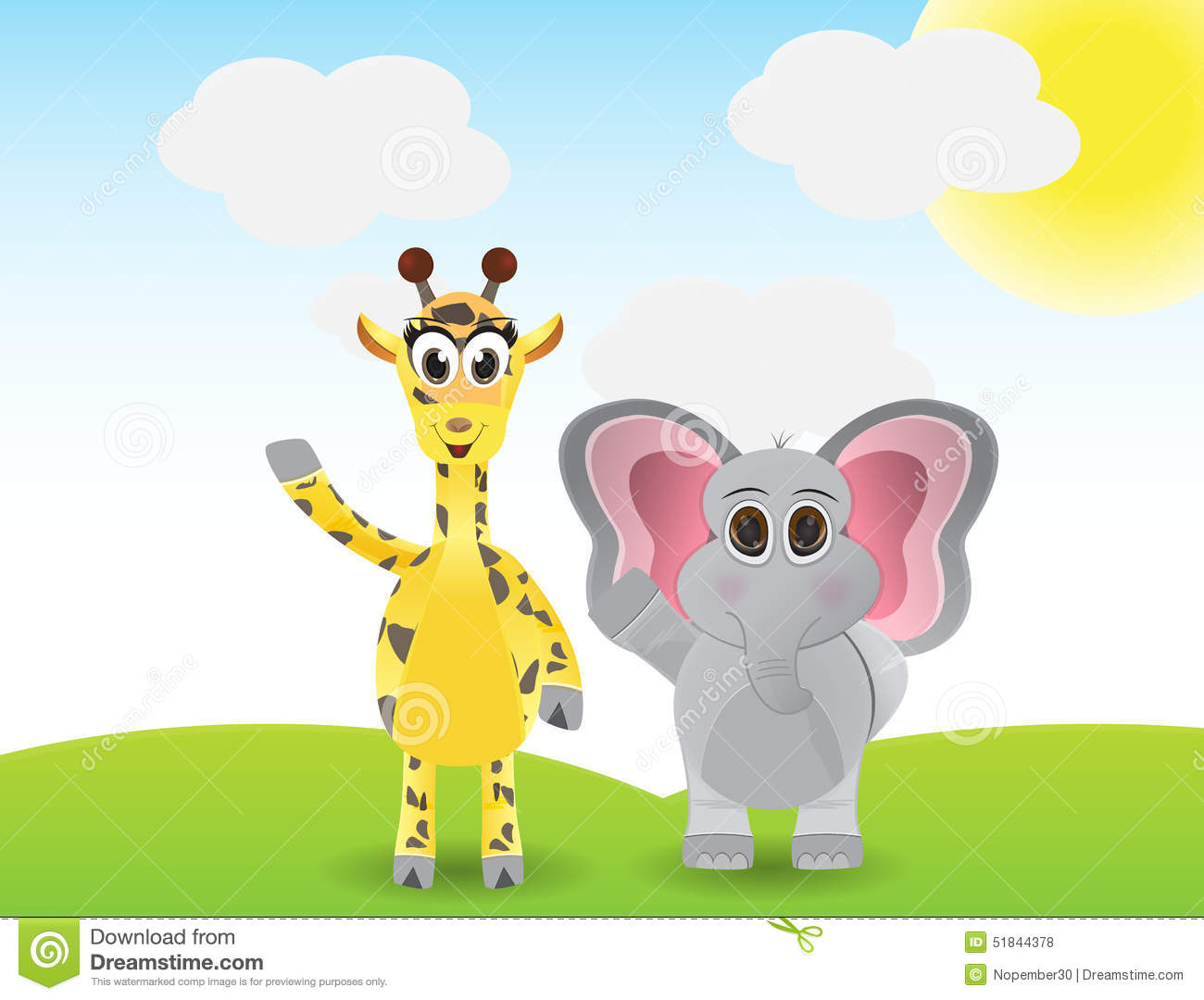 elephant and giraffe clipart 20 free Cliparts | Download ...