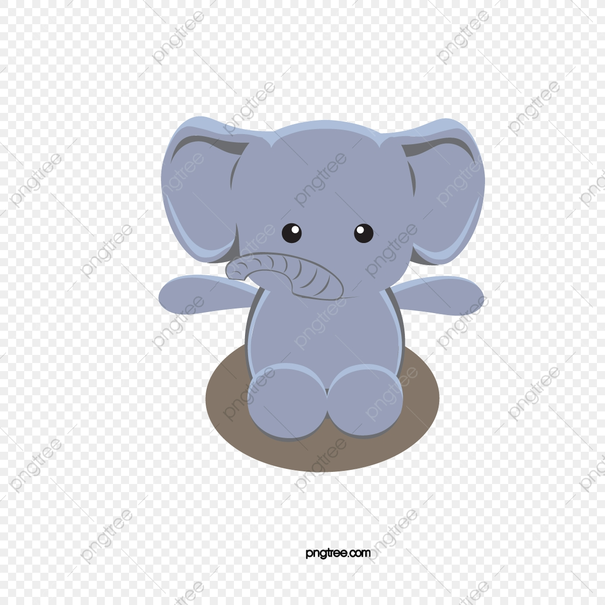 Cute Baby Elephant, Baby Vector, Elephant Vector, Baby Clipart PNG.