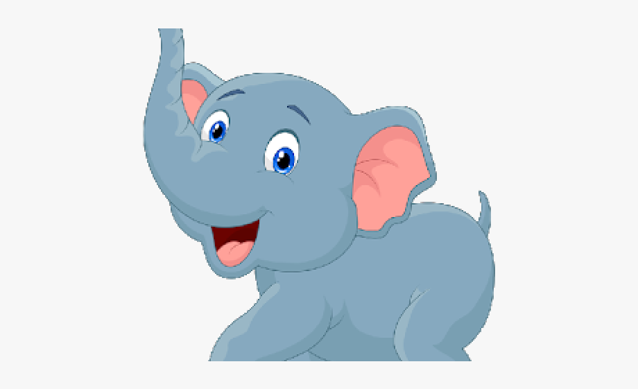 Baby Animal Clipart Blue Elephant.