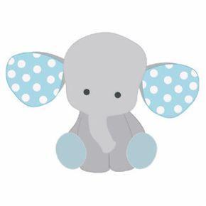 Baby Elefant Blue Image.