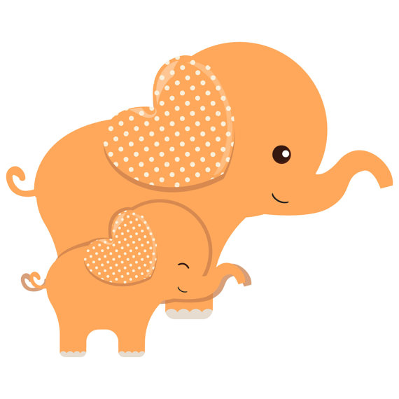 Elephant Baby Shower Clipart.
