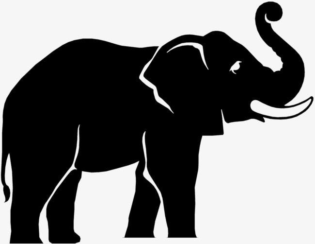 Elephant Black and White Logo.
