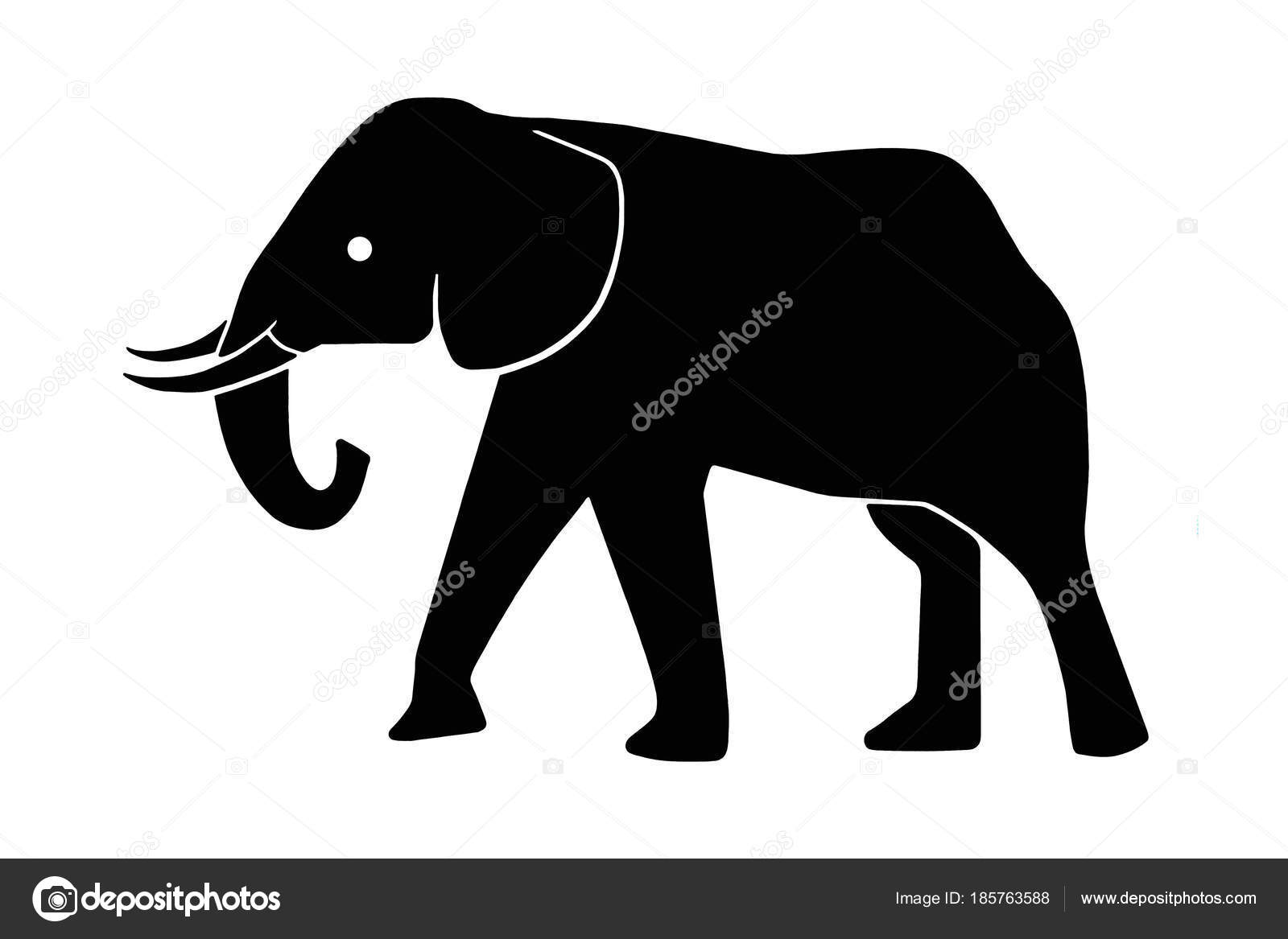 Clipart: clip art elephant black and white.
