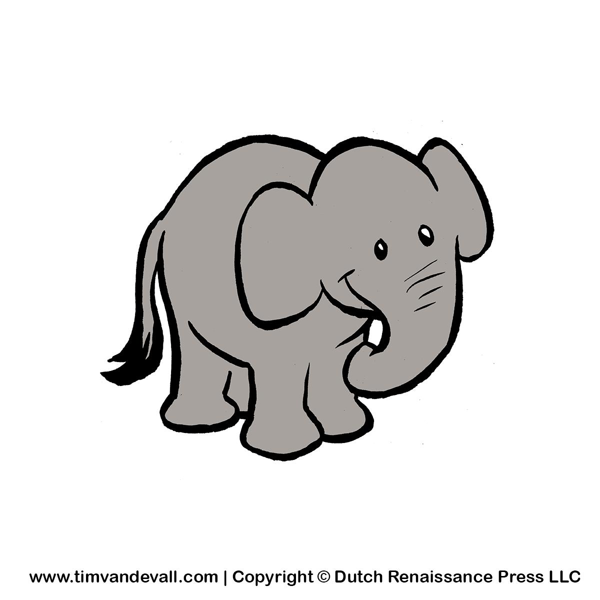 Elephant calf clipart.