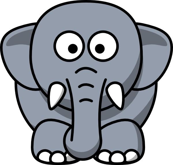 Cartoon Elephant clip art Free vector in Open office drawing svg.