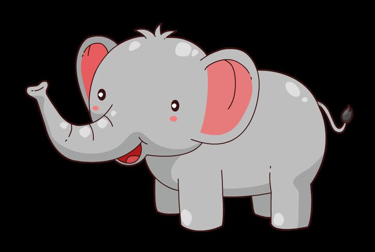 Elephant Clip Art Outline.