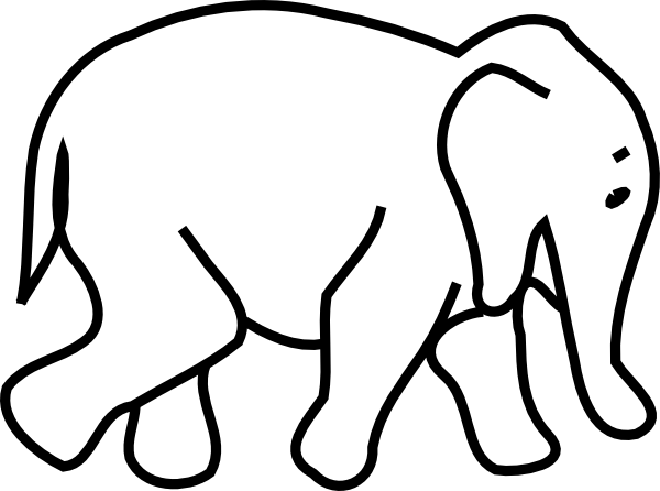 Indian Elephant Clip Art.