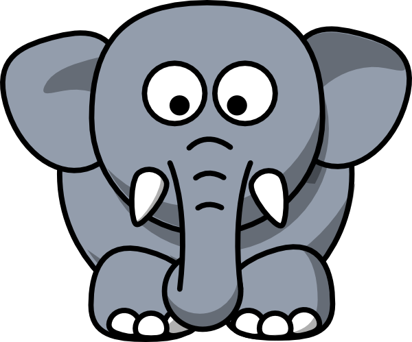 Elephant Clipart For Kids.