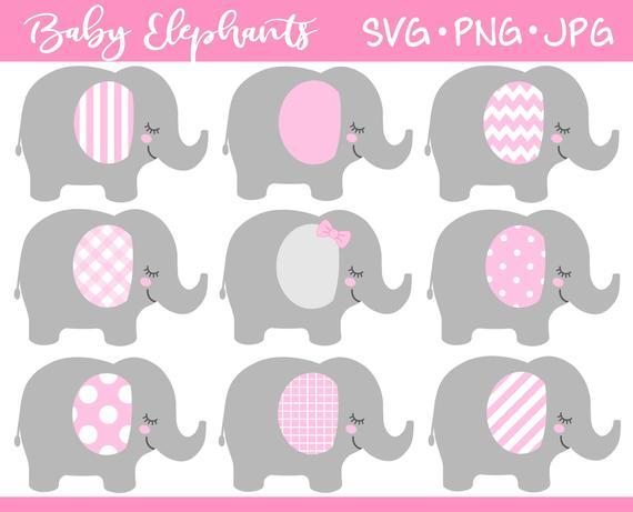 Baby Elephant SVG.