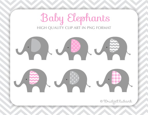 Baby Elephant clipart, Elephant clipart, baby shower clipart, baby girl  clipart, Commercial Use Clipart, 6 PNG Images, INSTANT DOWNLOAD.