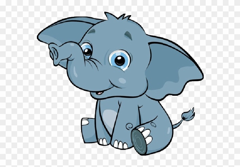 Animated Elephant Clipart.