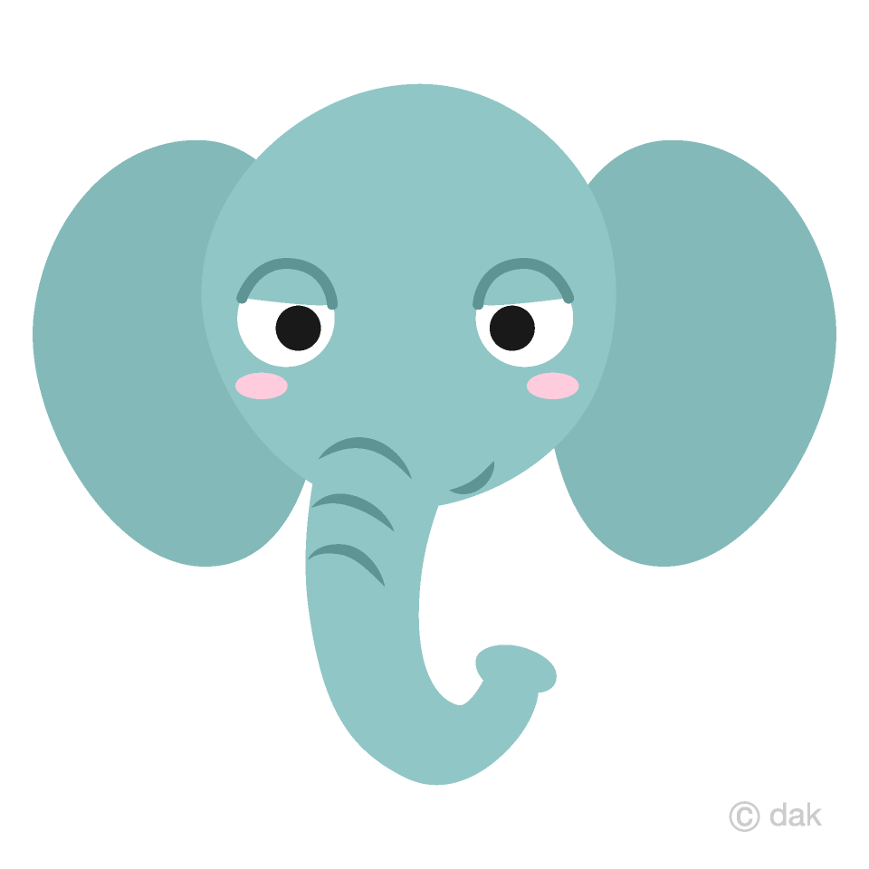 Free Friendly Elephant Face Clipart Image|Illustoon.