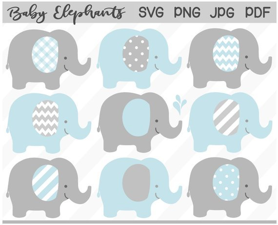 Baby shower elephant clipart boy 6 » Clipart Portal.