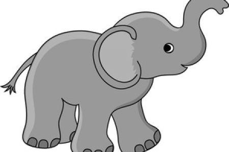 Clip Art Little Elephant.