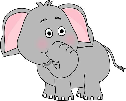 747 Cute Elephant free clipart.