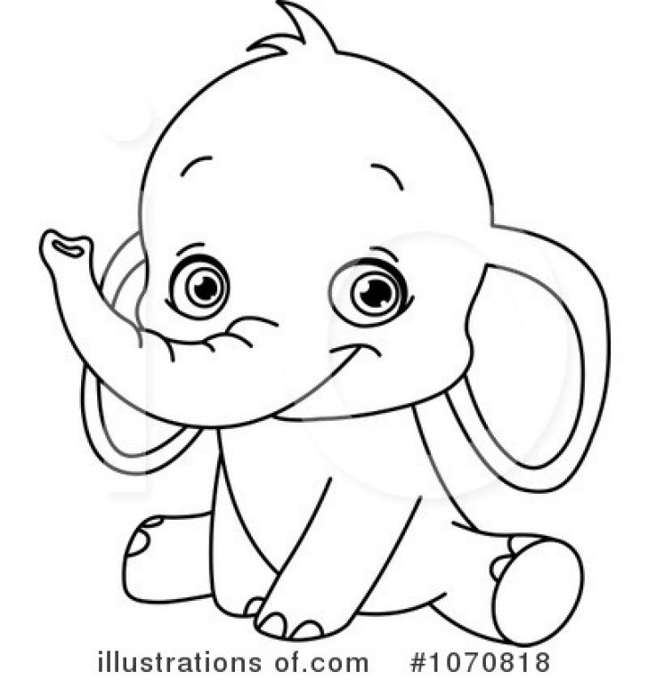 free elephant clipart black and white.
