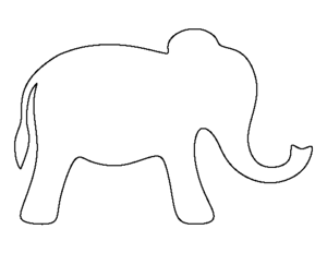 Elephant Clipart Outline Cute Black And White Panda Free Coloring.