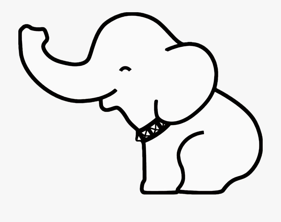 Elephant Clipart Outline.