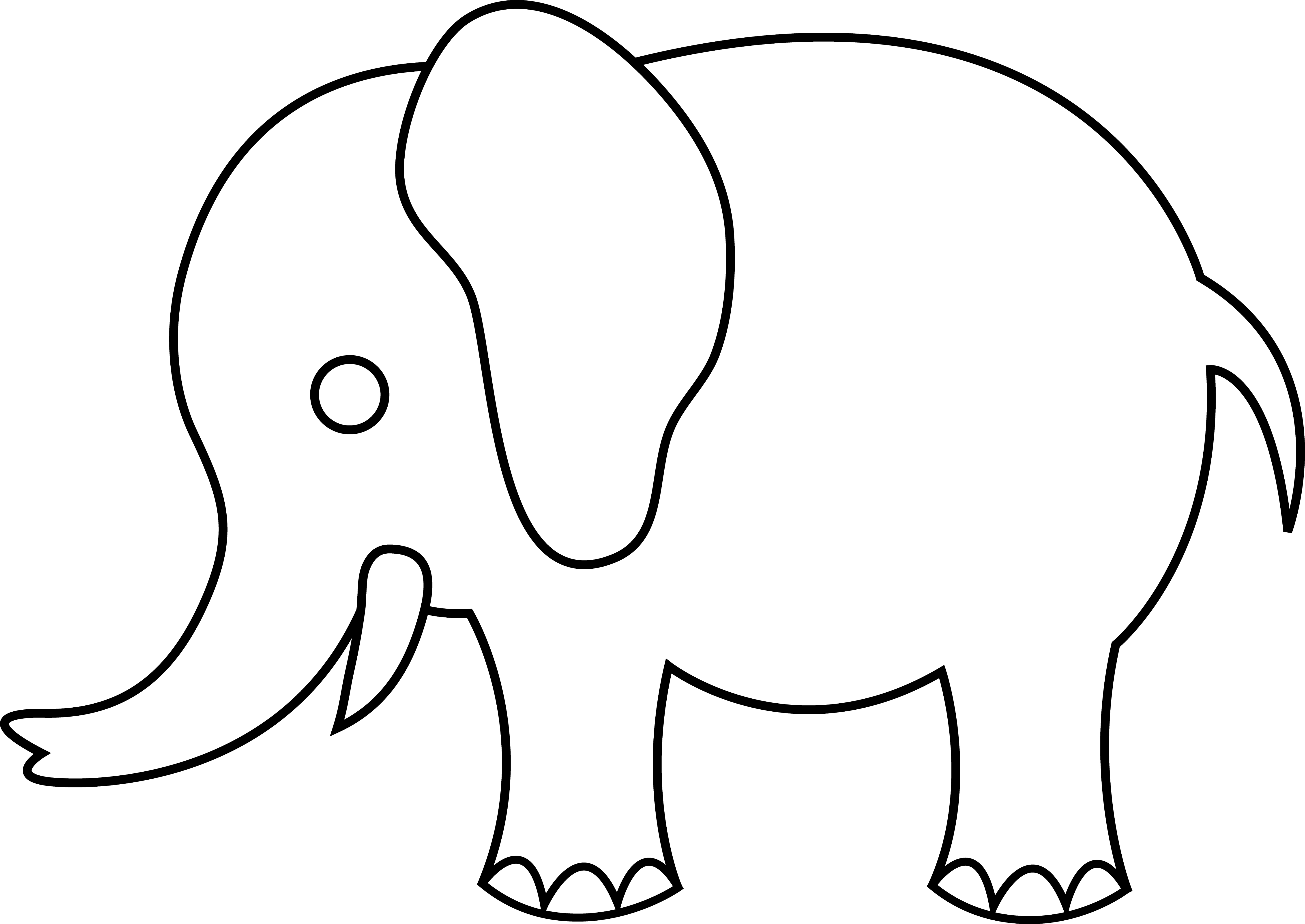 Free Elephant Outline Cliparts, Download Free Clip Art, Free Clip.