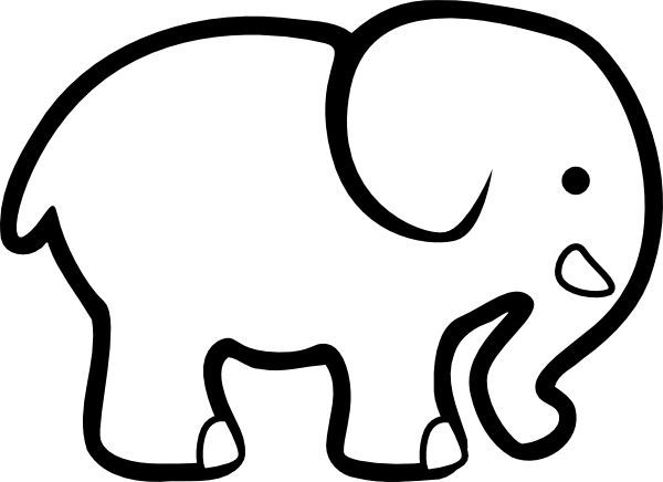 Image result for elephant cut out pattern.
