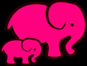 Pink Elephant Clip Art.