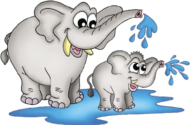 Download Vector Royalty Free Stock Clipart Watercolor Baby Elephant.