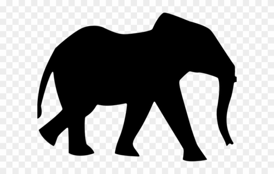 Asian Elephant Clipart Umbrella Silhouette.