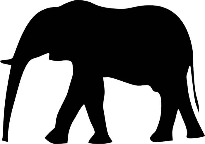 Elephant Silhouette Clip Art & Look At Clip Art Images.