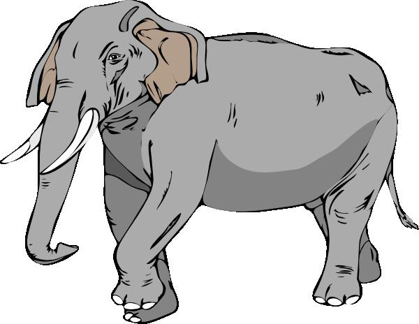 Black And White Elephant Clip Art at Clker.com.