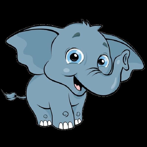 Baby Elephant Clipart Transparent Background.