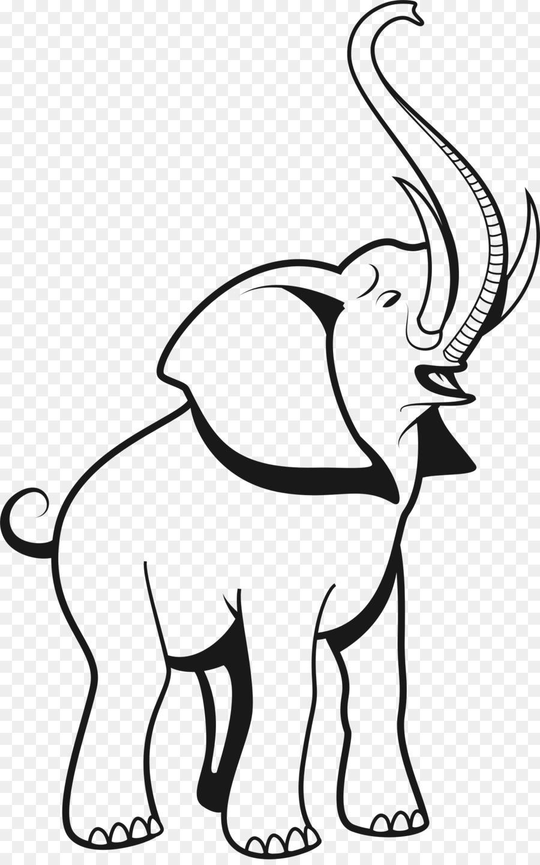 Indian Elephant clipart.