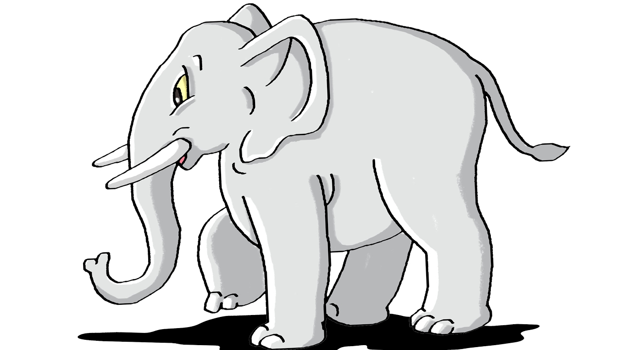 How to Draw Elephant Step by Step For Kids.