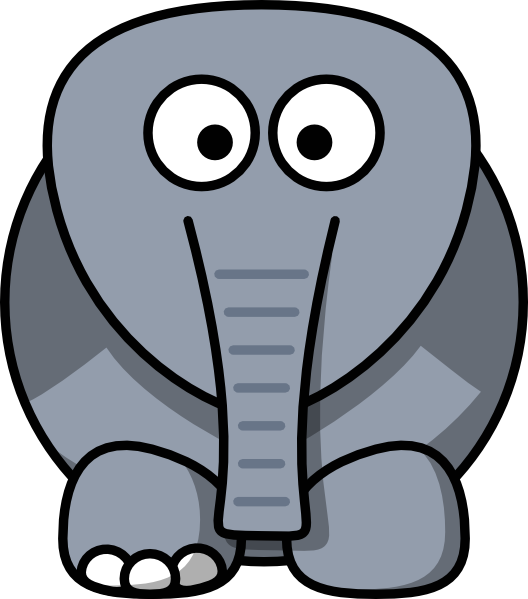 Clipart elephant ears.