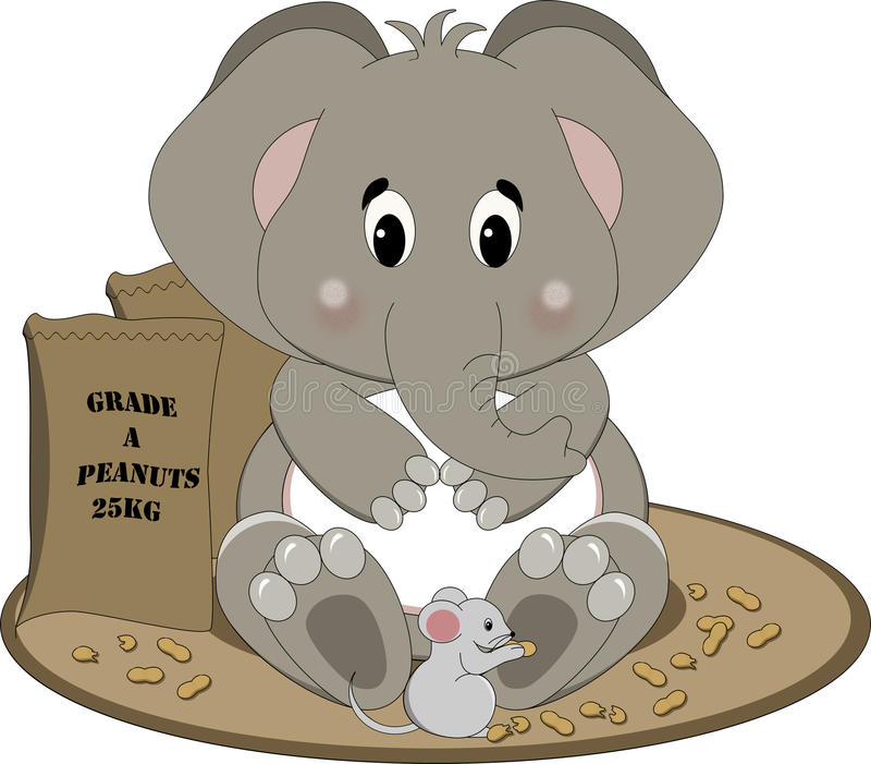 Eating Elephant Stock Illustrations.