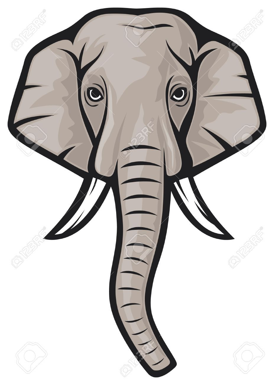 Image result for elephant face clip art.