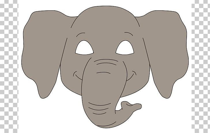 African Elephant Paper Mask PNG, Clipart, African Elephant.