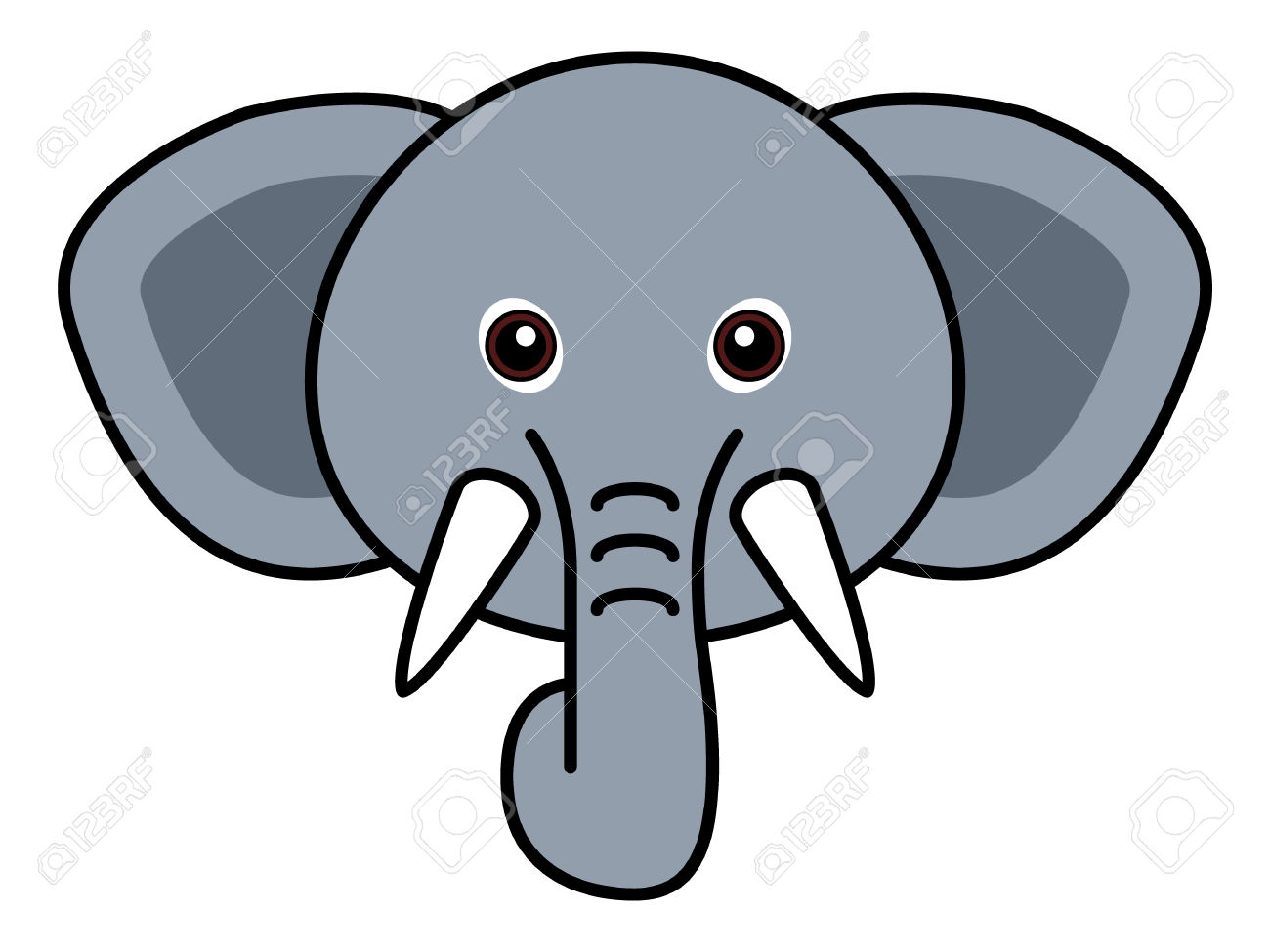 Elephant Face Clipart (97+ images in Collection) Page 1.