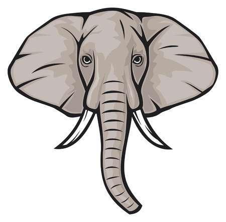 Elephant face clipart 4 » Clipart Portal.
