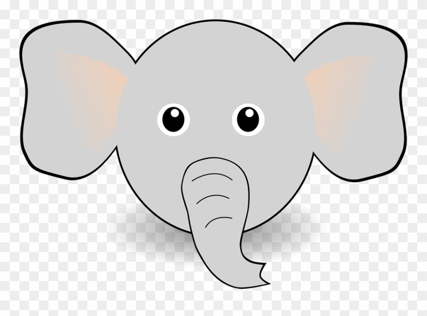 Elephant Face Clip Art Download.