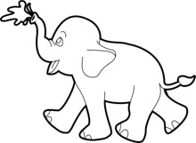 Free Black and White Animals Outline Clipart.