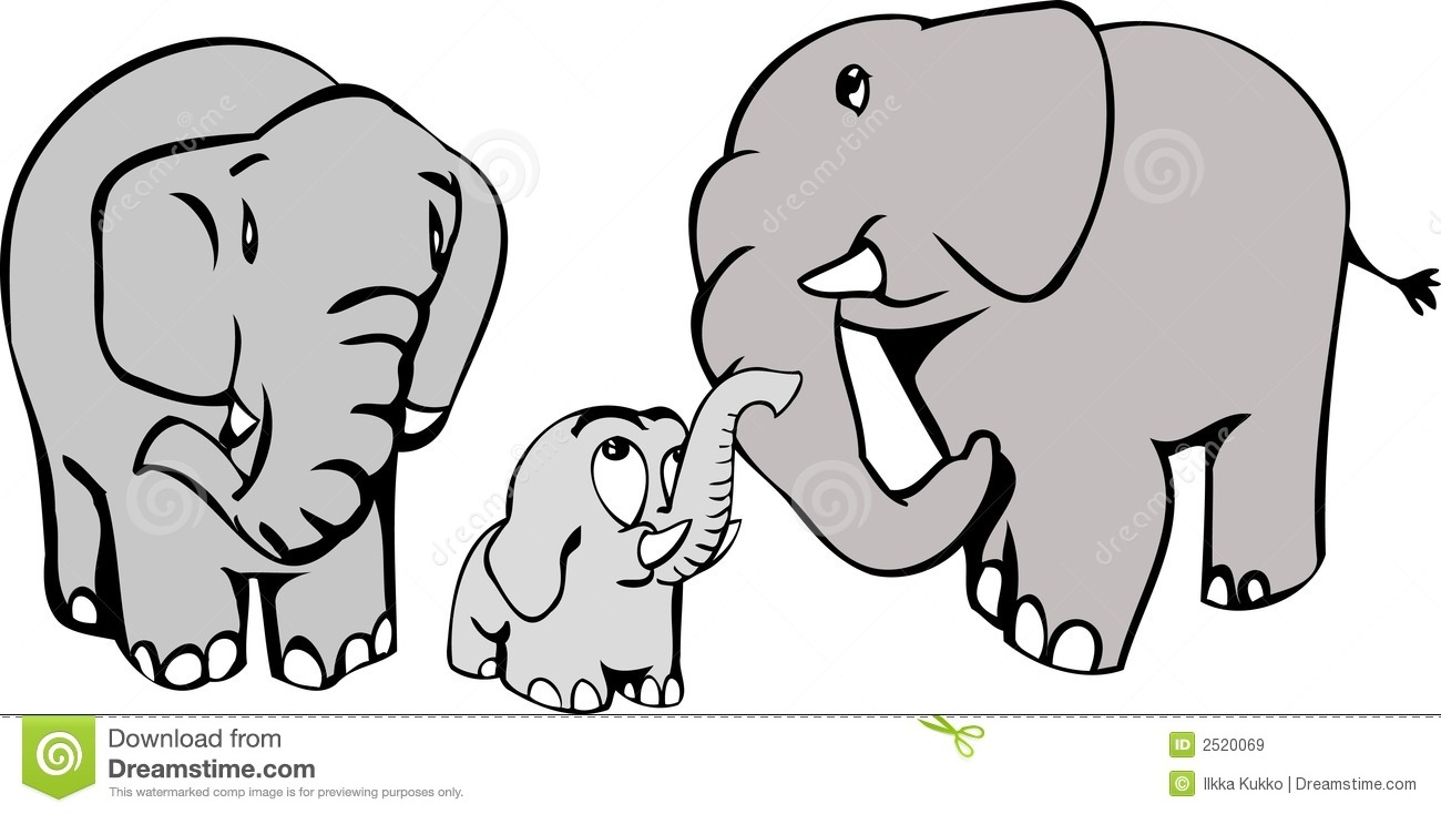 Elephant family clipart - Clipground