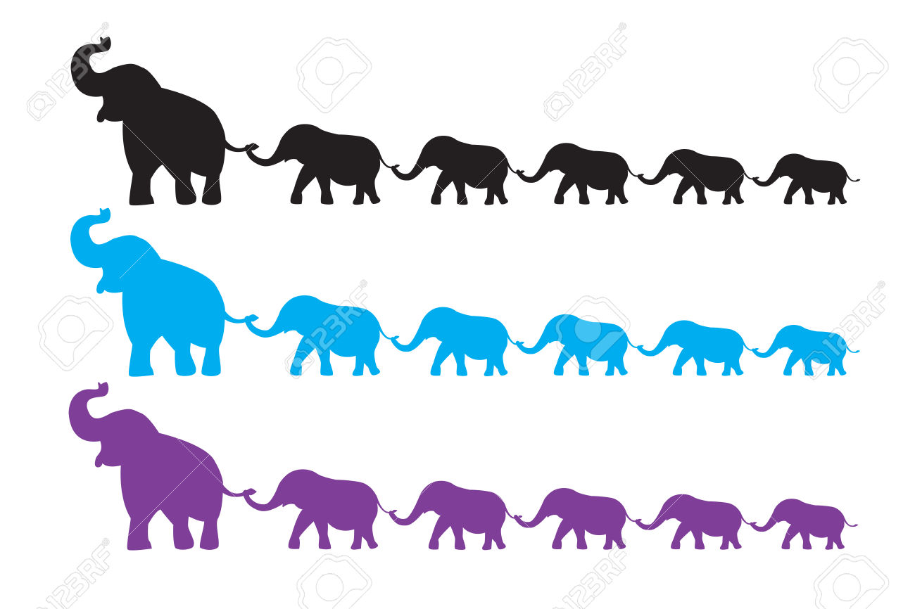 elephant family clipart clipground