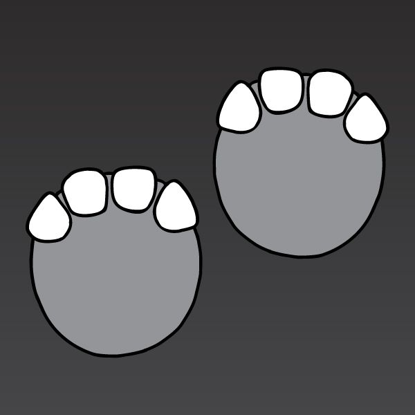 Outline of elephant footprint clipart.