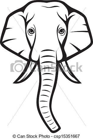 clipart of elephant face #17