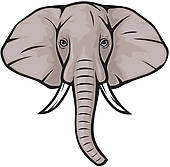 Elephant head free clipart.