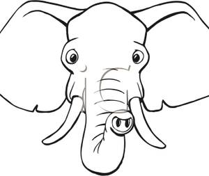 clipart of elephant face #2