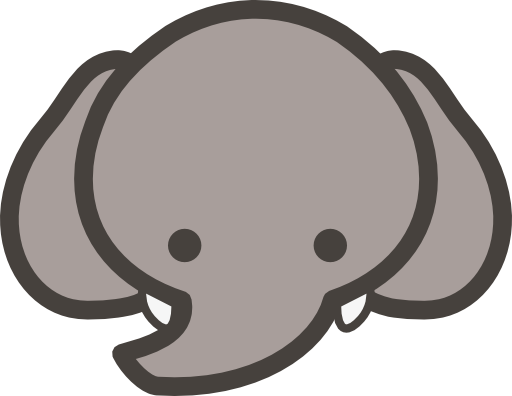 clipart of elephant face #11