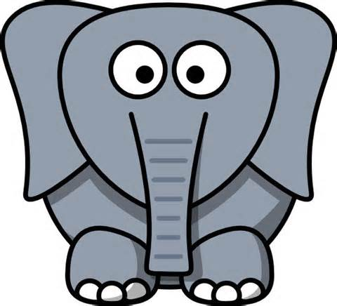 Elephant head clipart free clipart images 2.