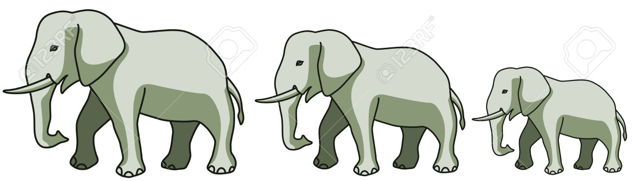 Elephant herd clipart - Clipground